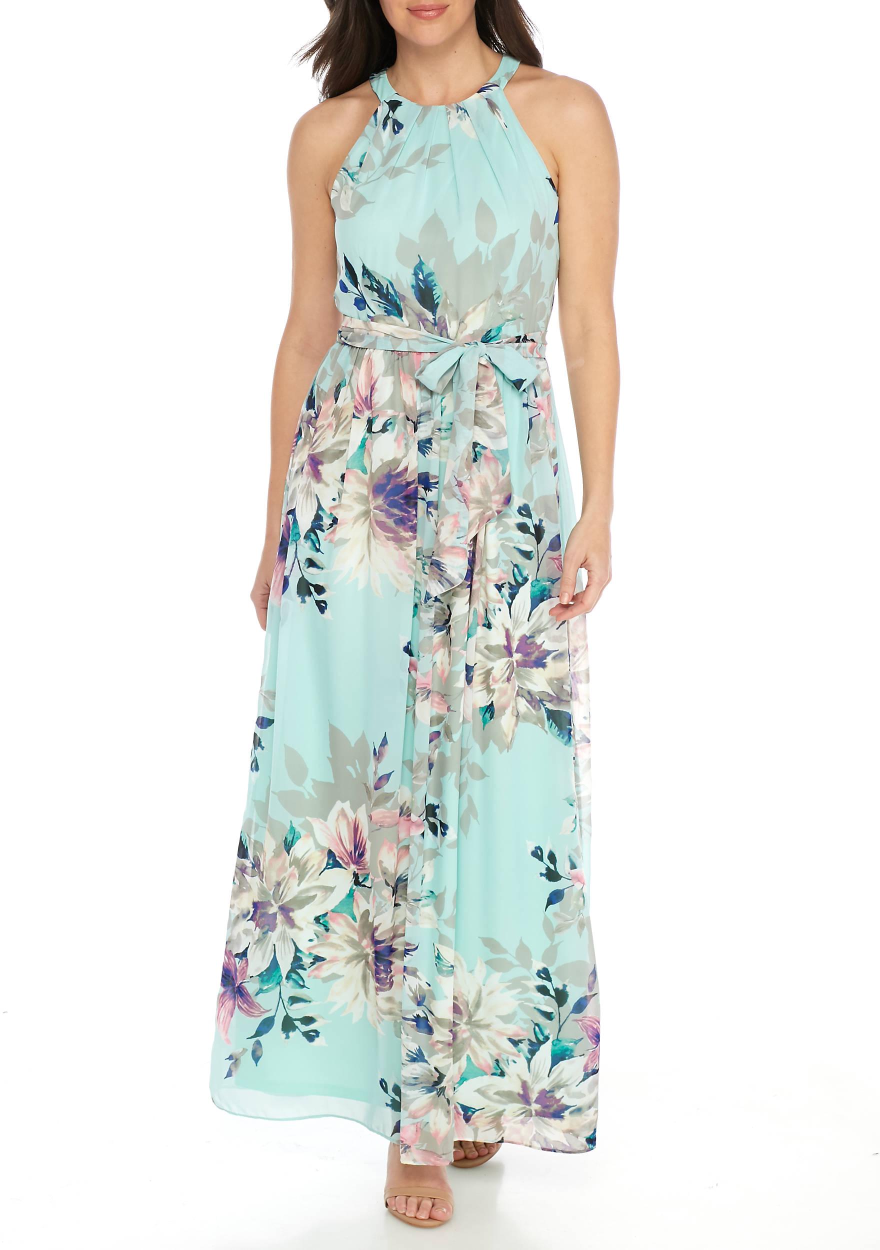 J Howard Maxi Print Halter Dress | belk