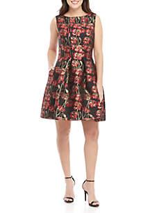 56e294ffac4 ... Jessica Howard Sleeveless Floral Print Dress
