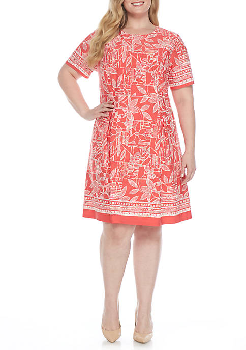 Nice J Howard Plus Size Puff Print Fit-and-Flare Dress supplier