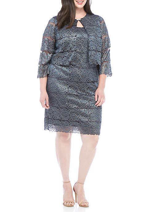 Plus Size Mob Lace Jacket Dress Belk