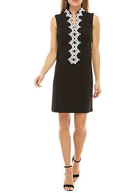5014640bff4e Jessica Howard Sleeveless Embroidered Neck Dress ...