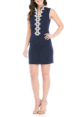 80783ca46 Jessica Howard Sleeveless Embroidered Neck Dress ...