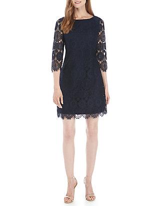 334444a3c81b Jessica Howard. Jessica Howard 3/4 Sleeve Lace Sheath Dress