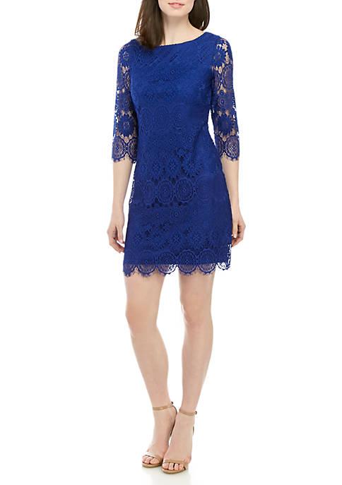 3/4 Sleeve Lace Sheath Dress