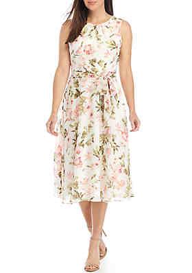 110e956f6b9 Jessica Howard Sleeveless Belted Chiffon Dress ...