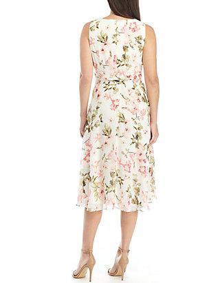 f5c41eeb8588 Jessica Howard Sleeveless Belted Chiffon Dress Jessica Howard Sleeveless  Belted Chiffon Dress