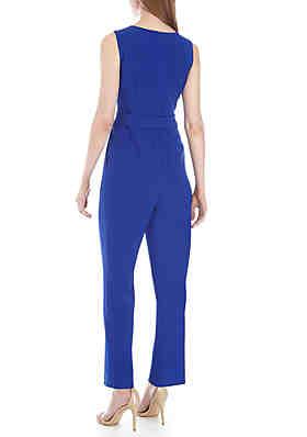 f7e024f3caa Jessica Howard Sleeveless Ruffle Front Jumpsuit Jessica Howard Sleeveless  Ruffle Front Jumpsuit
