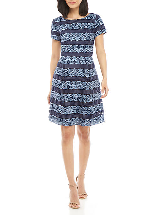 Jessica Howard 2 Tone Stripe Lace Fit and