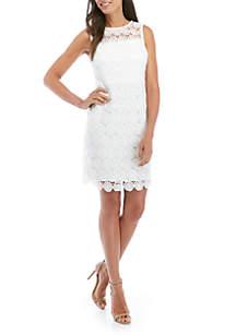 2876f06727dfe ... Jessica Howard Sleeveless Medallion Lace Dress
