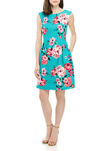 67f723ff4c4 ... Jessica Howard Cap Sleeve Textured Floral Dress