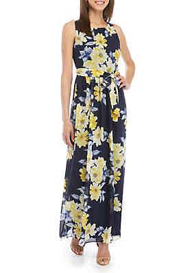 a7d7b0da8ecaf9 Jessica Howard Sleeveless Floral Maxi Dress ...