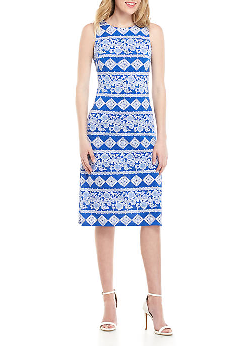 Sleeveless Graphic Midi Dress