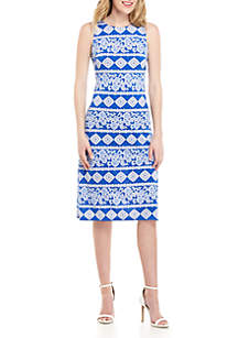 Jessica Howard Sleeveless Graphic Midi Dress