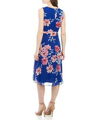 ac33153bb00bc Jessica Howard. Jessica Howard Sleeveless Chiffon Dress ...