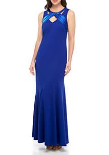 Jessica Howard Sleeveless Cutout Neck Long Gown