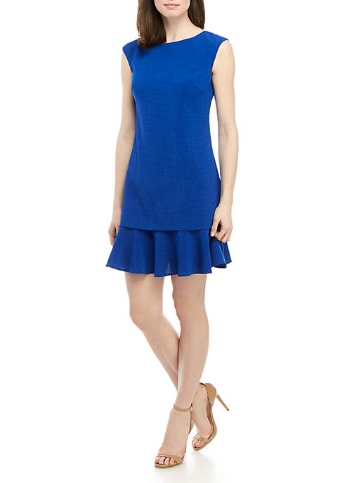 Jessica Howard Cap Sleeve Solid Popover Dress