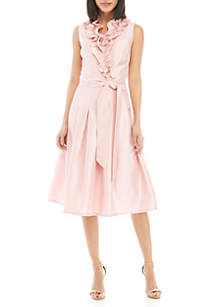 f1582a0cf8 ... Jessica Howard Sleeveless Shantung Fit and Flare Ruffle Dress