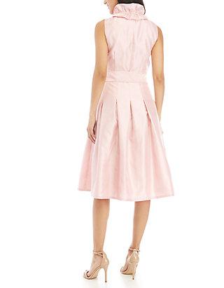 909ebf0c7ba ... Jessica Howard Sleeveless Shantung Fit and Flare Ruffle Dress
