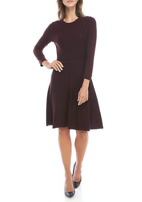 Honeycomb Textured Sweater Dress