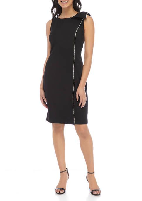 J Howard Womens Sleeveless Shift Dress with Lace