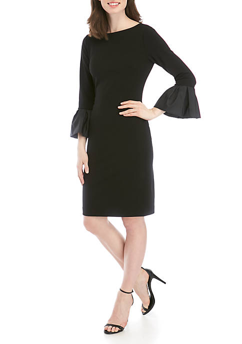 Jessica Howard Long Ruffle Sleeve Dress