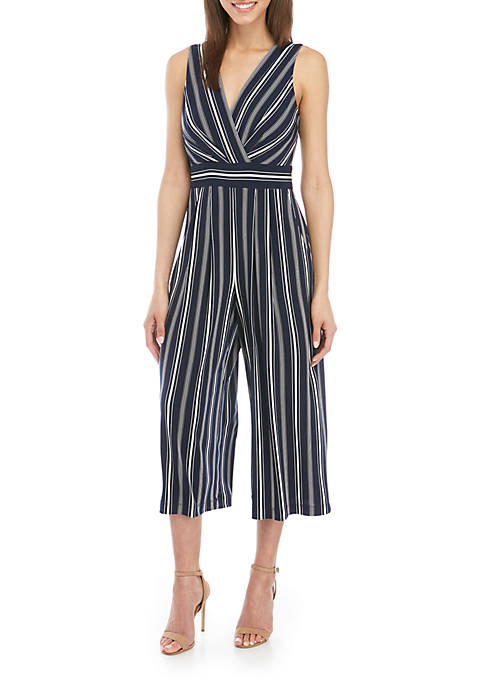 29f780f3869 Sleeveless V Neck Stripe Jumpsuit