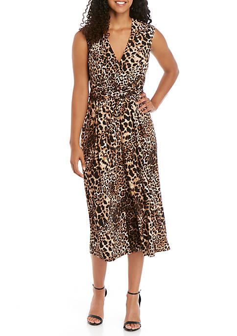 Sleeveless Leopard Print Jumpsuit