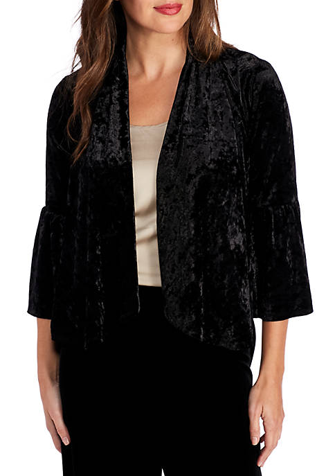 Lennie For Nina Leonard Topper Velvet Jacket