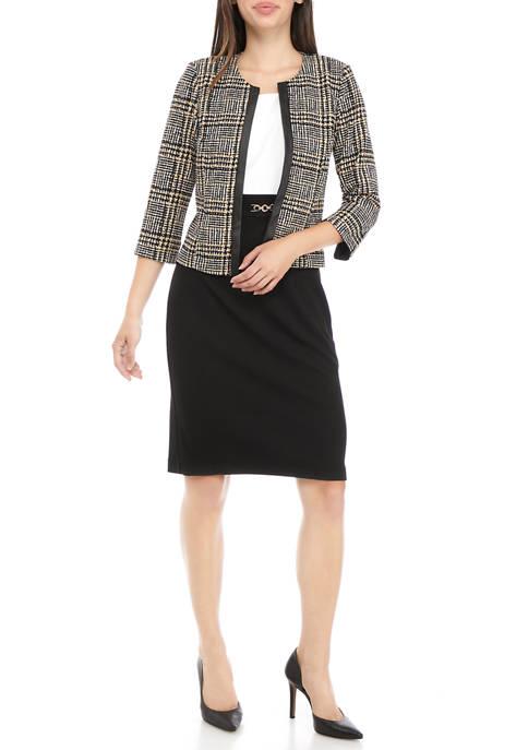 Womens Plaid Jacket Dress