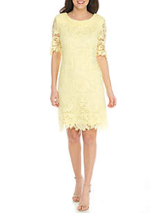Lace Solid Dress