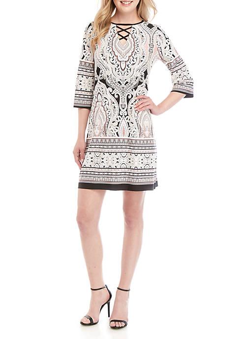 Sandra Darren Puff Print Shift Dress