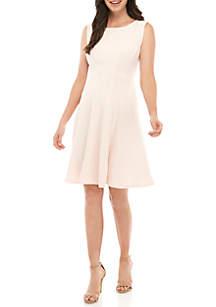 211f40691a7d4 ... Sandra Darren Sleeveless Textured Knit Dress