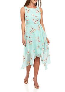 Sandra Darren Sleeveless Chiffon Midi Dress