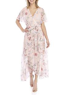 Sandra Darren Dolman Sleeve Floral Maxi Dress