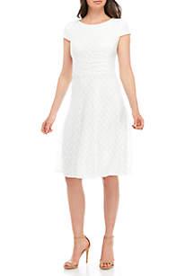 Sandra Darren Short Sleeve Lace Dress