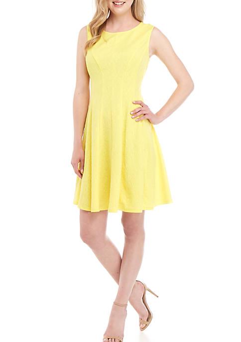 Sandra Darren Sleeveless Fit and Flare Dress