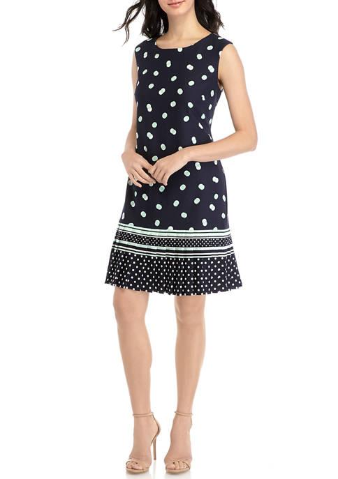 Womens Sleeveless Pleated Hem Dress