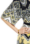 Womens Paisley Chevron Kimono Dress