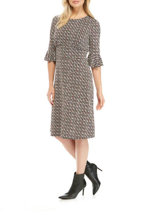 Womens Bell Sleeve Menswear Dress
