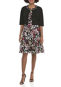 Jewel Jacket with Print Dress