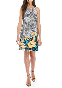 Perceptions Halter Paisley Floral Dress
