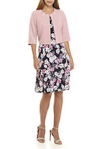 Jewel Jacket with Puff Print Dress
