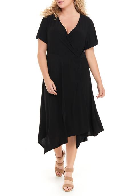 Plus Size Twist Midi Dress