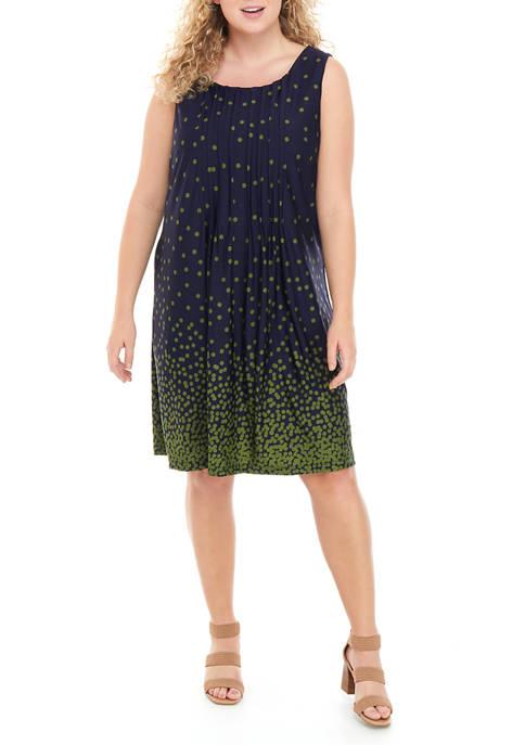 Plus Size Sleeveless A-Line Dress