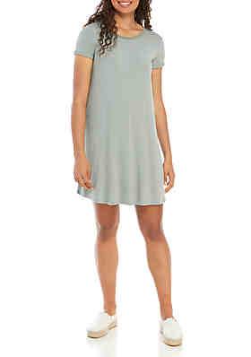 bbef8a7717d6d love, Fire Short Sleeve Stripe Swing Dress ...