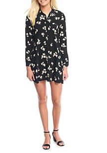 Button-Front Shirt Dress