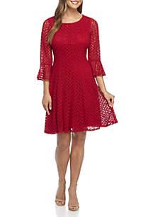 Crochet Bell Sleeve Dress