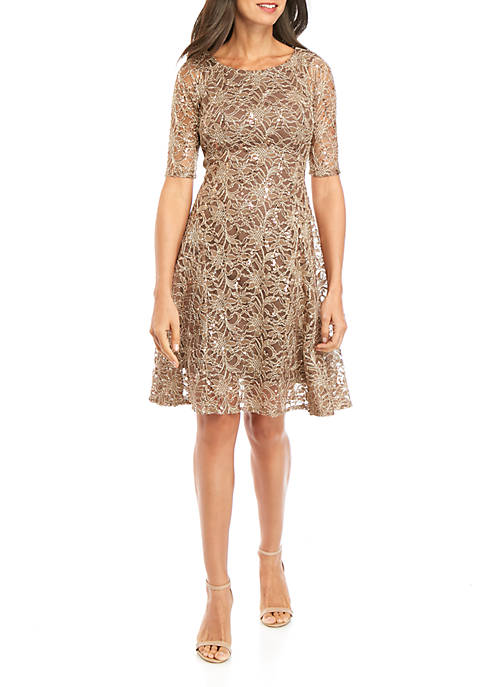 Chris McLaughlin Sequin Lace Short Dress