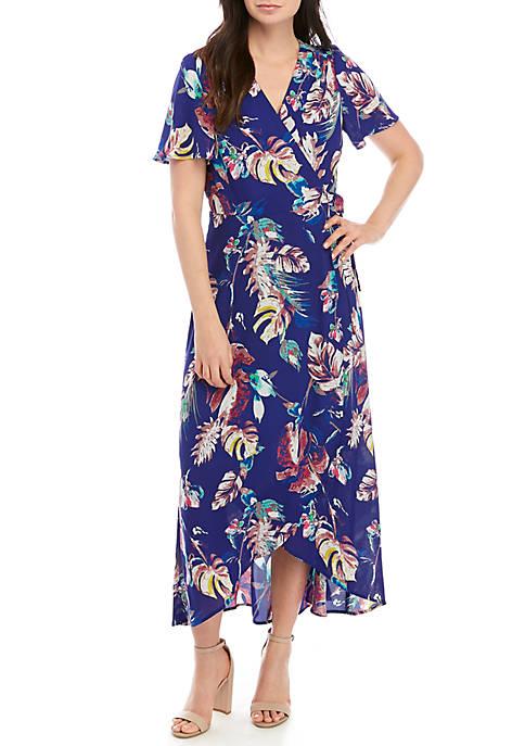 Chris McLaughlin Maxi Floral Wrap Dress