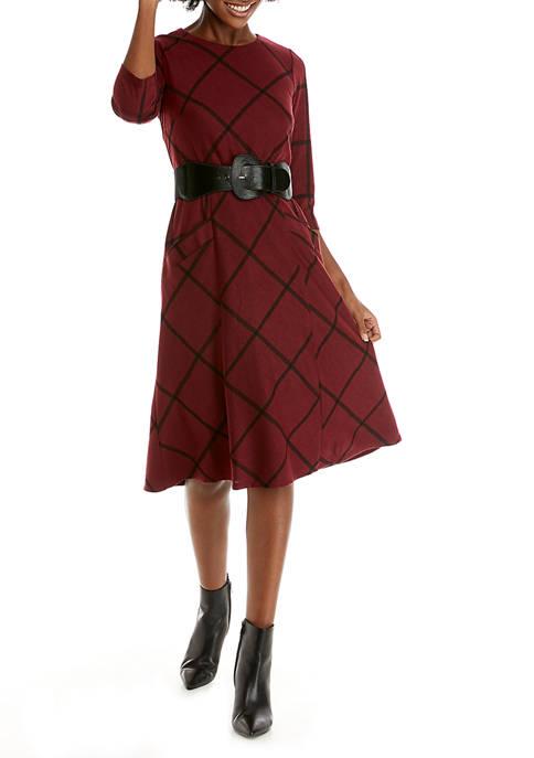 Chris McLaughlin Womens Belted Pocket Dress